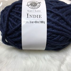 Indie navy blue 87yds super bulky yarn